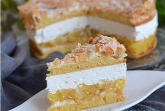 Tort cu ananas și migdale – un desert atât de bun încât se topește în gură