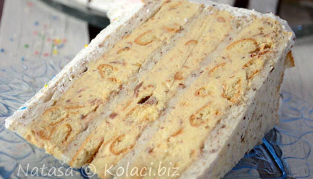 Tort cu pișcoturi și ciocolată Milka – un tort fantastic, ușor de pregătit